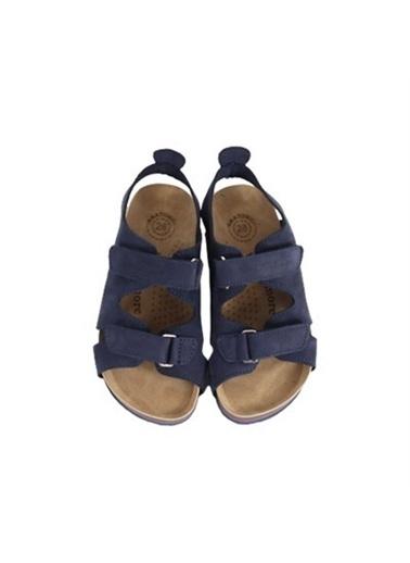 Kids A More Mira Çift Cırtlı Deri Erkek Çocuk Sandalet  Lacivert